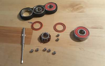 Reassemble the skate Bearings and Wheels